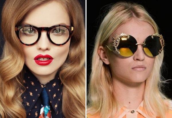 Женские круглые очки от солнца 2018